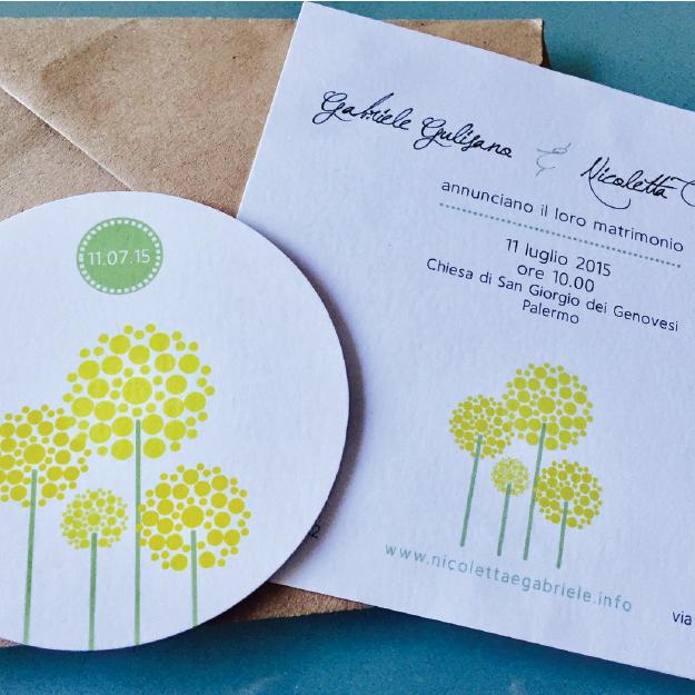 Inviti e partecipazioni in carta piantabile