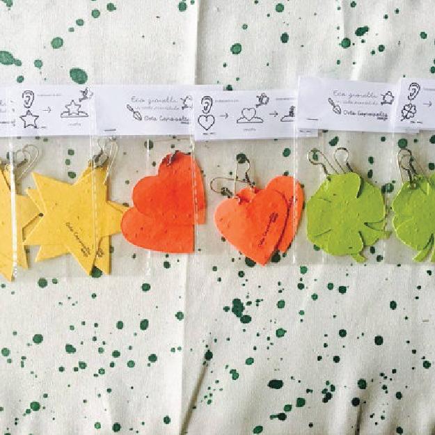 Ecogioielli in carta piantabile